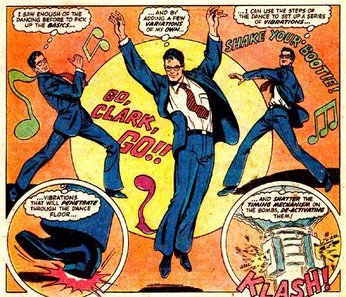 Clark Kent dancing