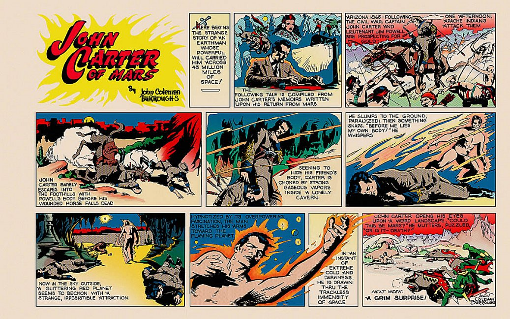 John Carter Sunday color strip