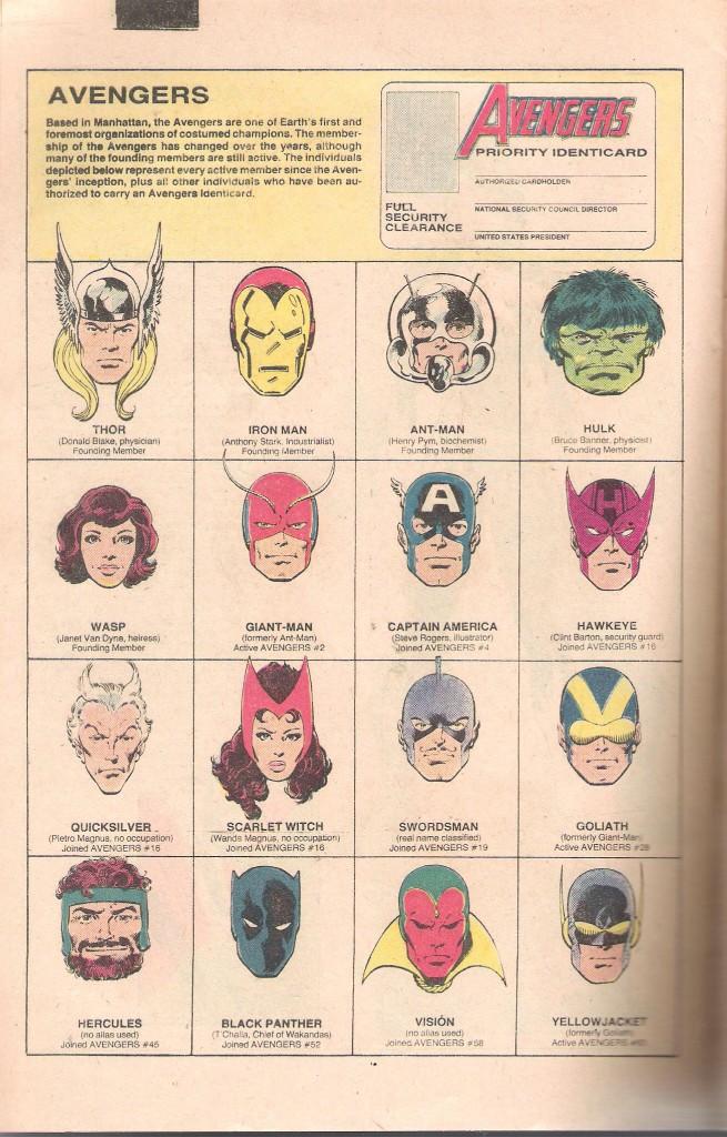 Avengers Roster 1