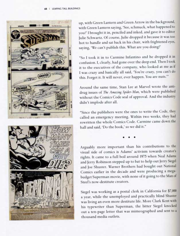 Neal Adams two full pictures on small page
