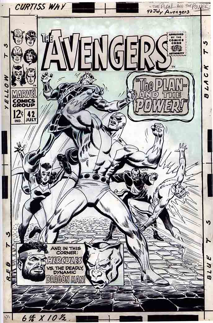 Comic Book Cover Drawing ~ Big john buscema a review by barry pearl comic book