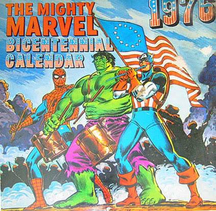 Mighty Marvel Bicentennial Calendar