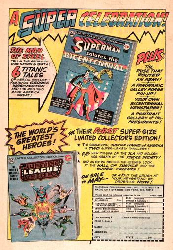 Superman Salutes the Bicentennial Ad