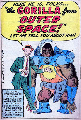 Lee Ditko Gorilla from Outer Space Color 1