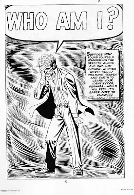 Lee Ditko Who Am I Black and White