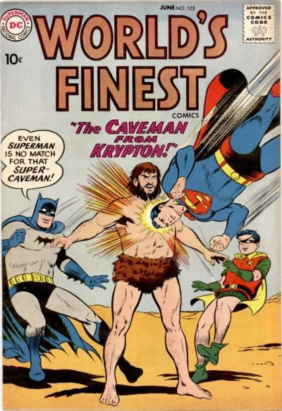 World's Finest 102 Caveman from Krypton