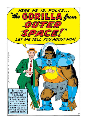 Lee Ditko Gorilla from Outer Space Color 2
