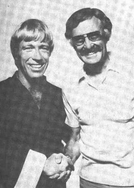 Chuck Norris with Stan Lee at 1975 San Diego Comic-Con