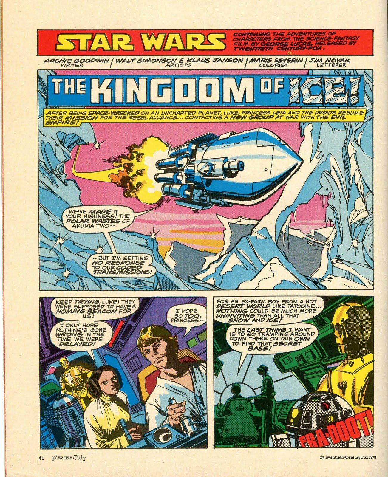 Star Wars Pizzazz 10 Kingdom of Ice