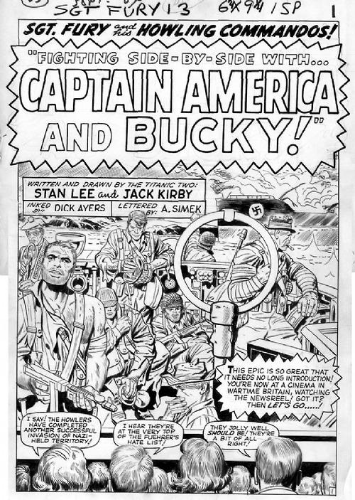 Captain America in Sgt. Fury
