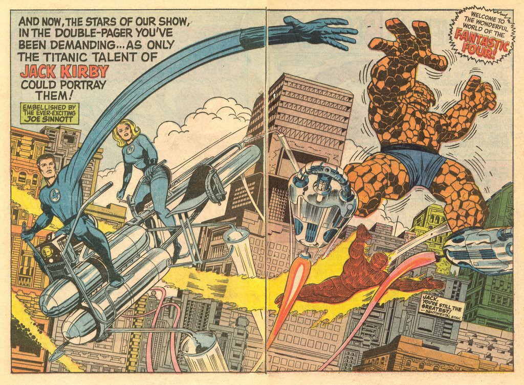 Fantastic Four Annual #5 double splash page
